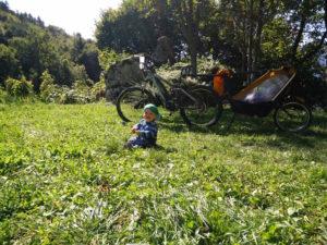 Mit dem Baby beim Biken
