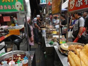 Quirliger Markt in Xian